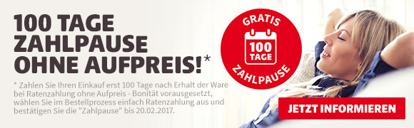 100 Tage Zahlpause