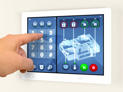Smart Home auf tablet