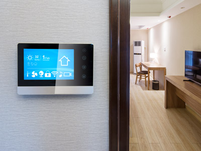 Smart Home an der Wand